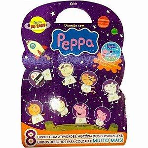 Peppa Pig - Maleta Com 8 Livros Infantis E Cd-rom