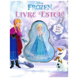 Livro Infantil Disney de Madeira - Frozen - Livre Estou