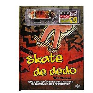 Livro + Skate De Dedo Com Acessórios Para Personalizar