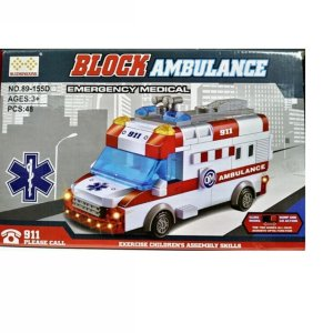 Blocos de Montar Block Ambulance Emergency Medical
