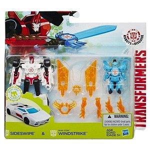 Boneco Transformers Sideswipe E Windstrike - Hasbro B7677