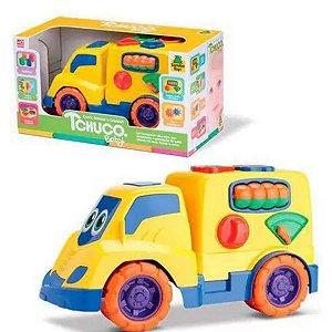 Caminhãozinho Tchuco Baby Encaixes Peças Baú Samba Toys