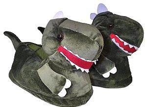 Pantufa Dinossauro Com Solado Emborrachado 35 ao 42 - Stuf