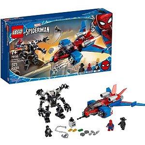 Lego Marvel Super Heroes Spider Jet Vs Robo Venom Mech