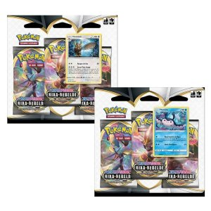 Kit com 2 Pokémon Blister Triplo Rixa Rebelde Mantine + Noctowl 38 cartas