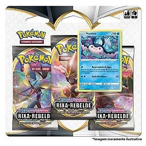 Kit com 2 Pokémon Blister Triplo Rixa Rebelde Mantine + Noctowl 38 cartas