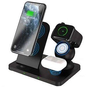 Carregador Sem Fio Indução 3 Em 1 iPhone Applewatch AirPods