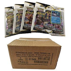 Caixa Fechada Pokemon EE2 Rixa Rebelde Blister Triplo 228 cartas