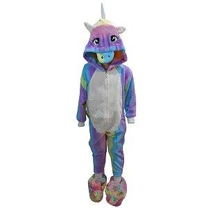 Pijama Macacão Infantil Unicórnio 4 Ao 10 - Stuf