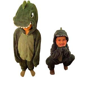 Pijama Macacão Infantil Dinossauro 4 Ao 10 - Stuf