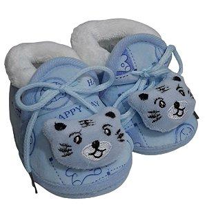 Pantufa Bebê Ursinho Azul Forrada 17 Ao 20 - Stuf