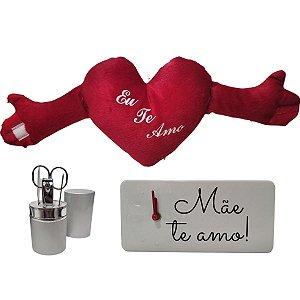 Kit Presente Dia Das Mães Com Pelúcia, Relógio E Estojo De Unhas