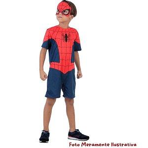 Fantasia Curta Homem Aranha - Pompis Fantasias