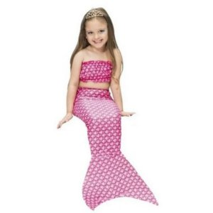 Fantasia Sereia Pink Com Cauda E Top - Fantasia Super