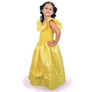 Fantasia Vestido Amarelo Bela - Brink Model