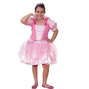 Fantasia Princesa Rosa Com Bolero - SidNyl