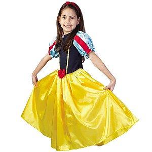 Fantasia Branca De Neve Azul E Amarela - SidNyl
