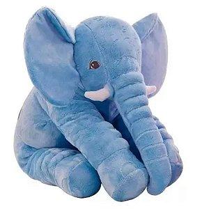 Almofada Travesseiro Elefante Pelúcia Para Bebê Dormir 70cm - Cortex