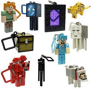 Kit Com 3 Chaveiros Sortidos Minecraft - Mojang