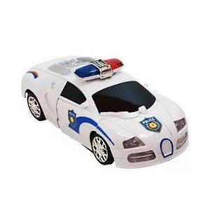 Carro Robô Warriors Bate E Volta Polícia- Zoop Toys