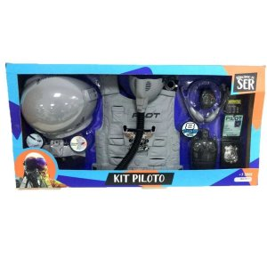 Kit Brincando De Ser Piloto - Mult Kids
