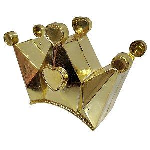 Kit Com 10 Coroas Douradas Decorativa Plástico