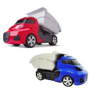 Caminhão Caçamba Basculante Invictus Roda Livre Cardoso Toys