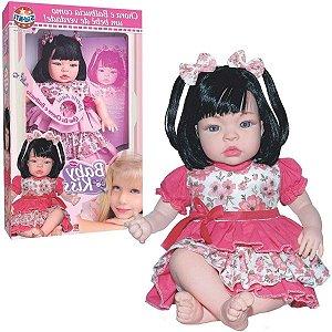 Boneca Baby Kiss Morena - SidNyl