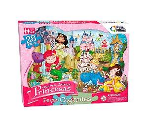 0991 Quebra-Cabeça gigante Princesas 28 peças bordas orgânicas