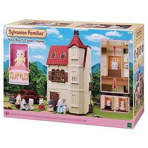 Casa Com Torre E Telhado Vermelho -Sylvanian Families - Epoch