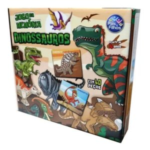 Jogo Da Memoria Dinossauros 40 Peças-Pais E Filhos
