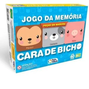 Jogo Da Memória Cara De Bicho - Pais e Filhos