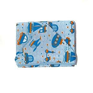 Toalha de Banho C/Capuz com Forro Fralda - Azul