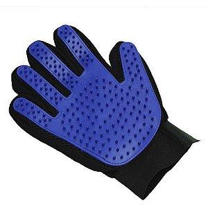 Luva Chalesco Clean Glove para Cães - Cor Preta com Azul