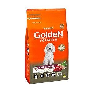 Golden Fórmula MB Cães Adultos Pequeno Porte Sabor Carne e Arroz 1kg