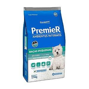 Premier Ambientes Internos Cães Adultos Sabor Frango e Salmão 7,5 kg