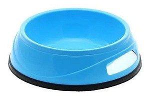 Comedouro de Plástico Antiderrapante (grande) Azul Claro