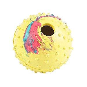 Brinquedo Chalesco Para Cães Bola para Ração -Cores variadas