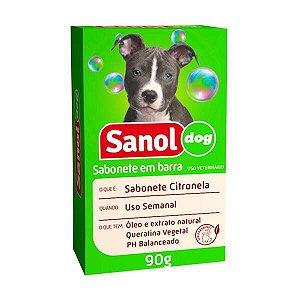 Sabonete Sanol Dog Citronela para Cães e Gatos 90g