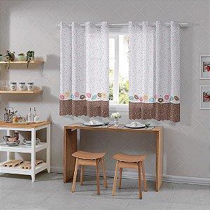 Cortina Cozinha Alegra 1,20x2,60m