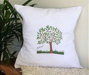 Capa de Almofada Bordada Mangaba - Coleção Árvores do Cerrado