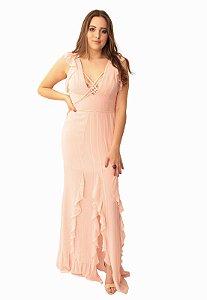 Vestido Longo Rosa Camila Siqueira