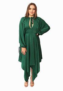 Vestido Midi Verde  Ellizabeth Marques