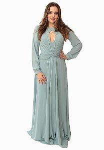 Vestido Longo Azul Ellizabeth Marques
