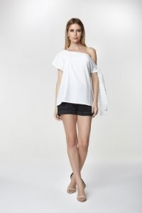 Blusa Risca Giz Off White