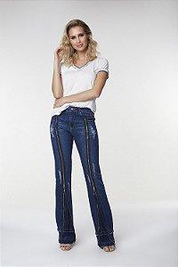 Calça Wide Flare Jeans