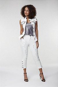 Colete Corrente Jeans Branco