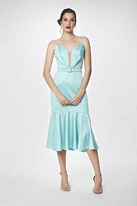 Vestido Midi L'or Azul Brisa