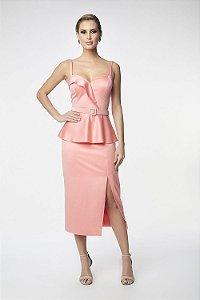 Vestido Midi L'or Rosa
