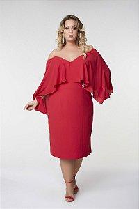 Vestido Midi Plus Size Cosh Vermelho